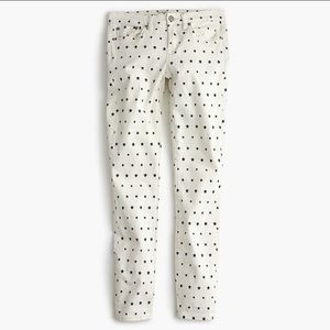 J. Crew Mini Star Print Toothpick White/Navy Jeans